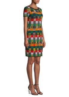 Missoni Wool Knit Check Sweater Dress