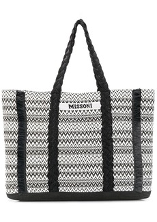 Missoni woven style fringed detail tote bag