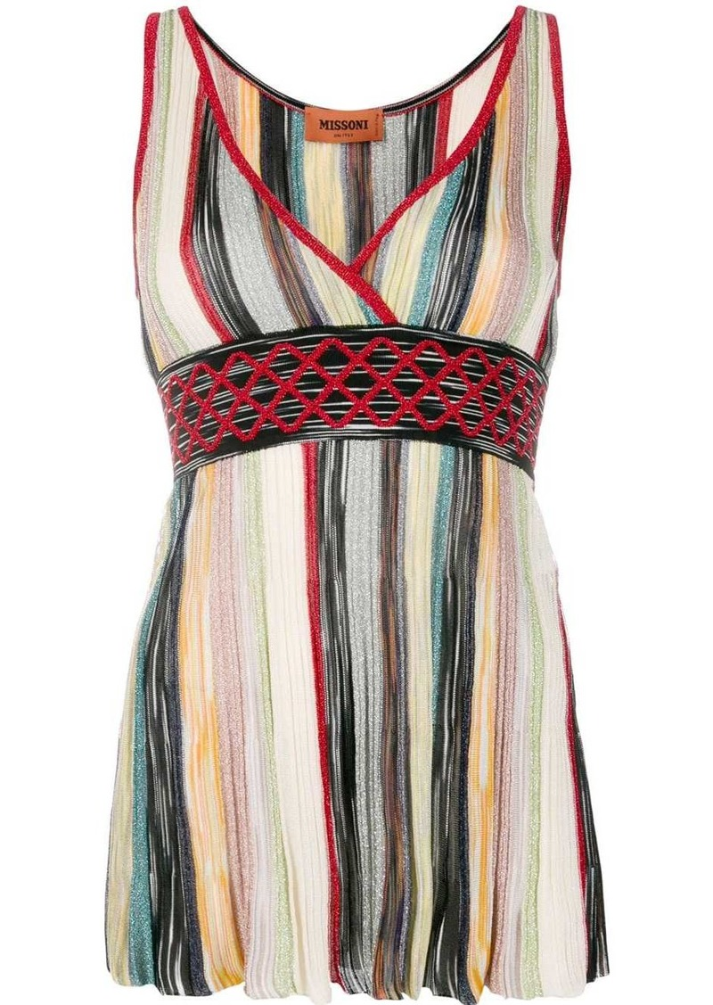 Missoni wrap V-neck top