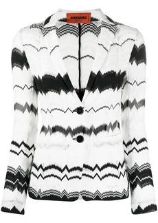 Missoni zig-zag print knit blazer