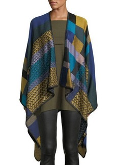 Missoni Zigzag & Colorblock Wool Cape