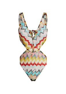 Missoni Zigzag Cutout One-Piece Swimsuit
