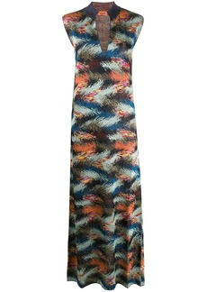 Missoni zigzag-knit sleeveless maxi-dress