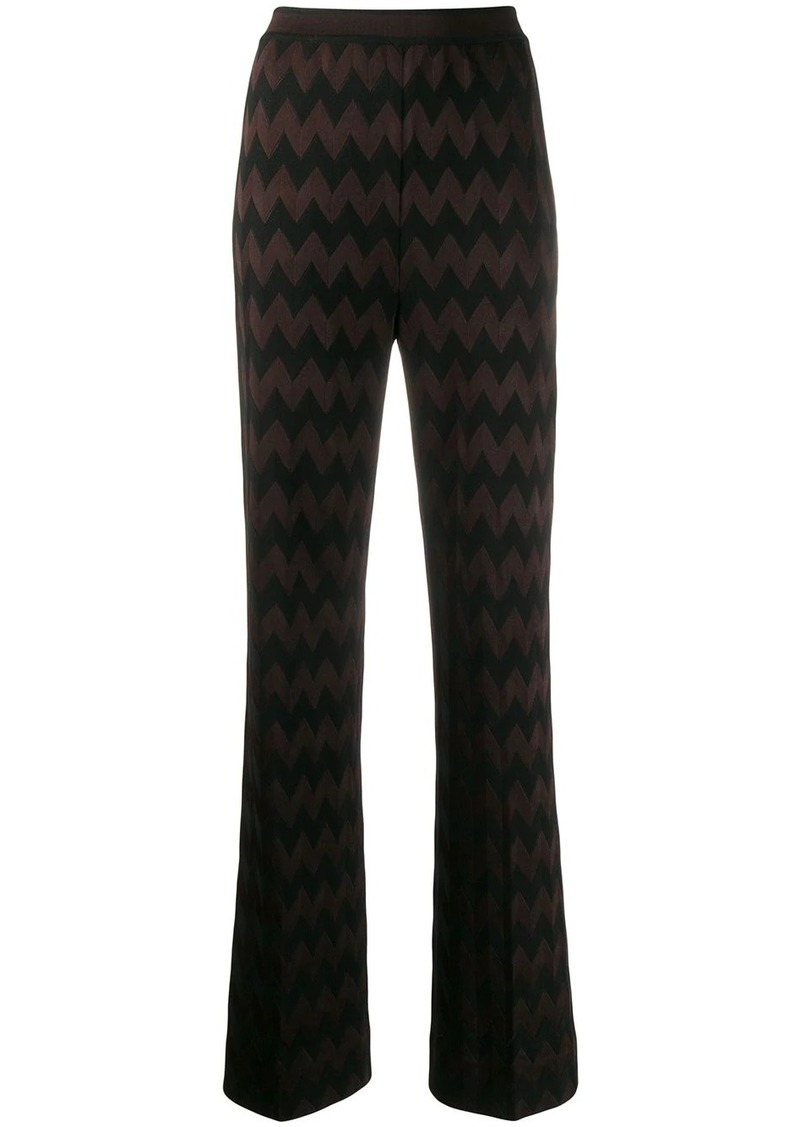 Missoni zigzag knit trousers