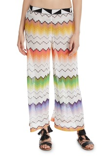 Missoni Zigzag Mesh Pull-On Coverup Pants
