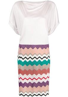 Missoni zigzag-panel T-shirt dress