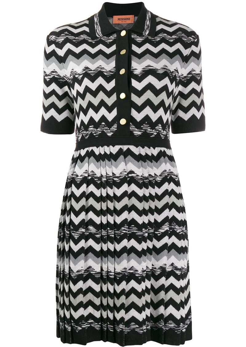Missoni zigzag print dress