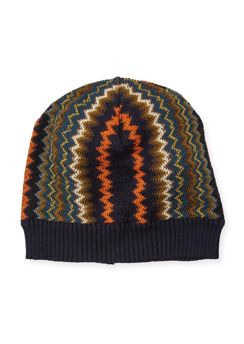 a3918aa1e33 SALE! Missoni Zigzag Wool-Blend Beanie