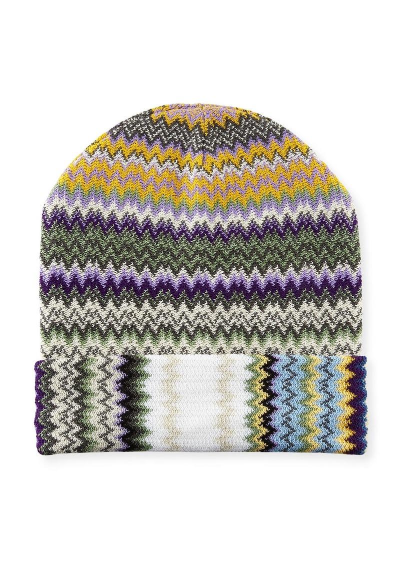 e6c3af356c5 Missoni Zigzag Wool-Blend Beanie Hat