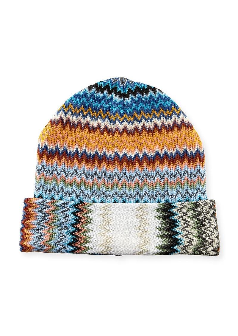 Missoni Zigzag Wool-Blend Beanie Hat Now  58.00 84e95fda7fb5