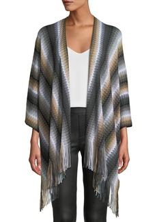 Missoni Zigzag Wool Fringe-Trim Cape