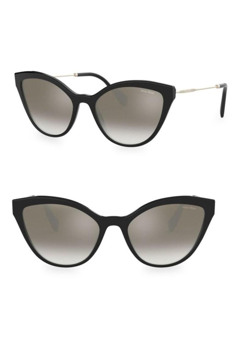 8e7818c1b37 Miu Miu 0MU 03US 55MM Cat Eye Sunglasses