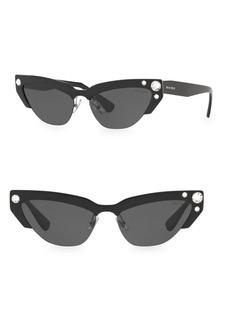 Miu Miu 0MU 04US 59MM Cat Eye Wrap Sunglasses