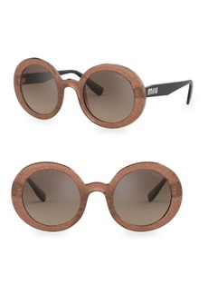 Miu Miu 0MU 06US 48MM Round Sunglasses
