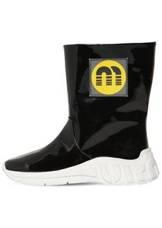 Miu Miu 10mm Faux Patent Leather Rain Boots