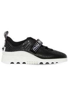 Miu Miu 30mm Perforated Leather Sneakers