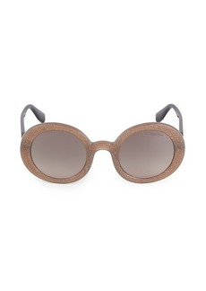 Miu Miu 48MM Circle Glitter Sunglasses