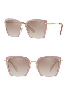 Miu Miu 52mm Square Sunglasses