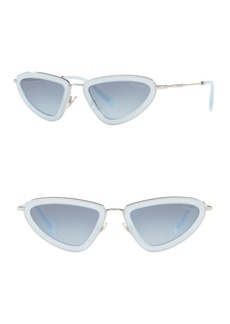 Miu Miu 53mm Irregular Sunglasses
