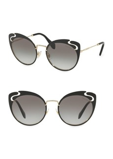 Miu Miu 54mm Cut-Out Butterfly Sunglasses