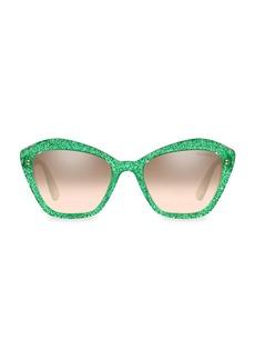 Miu Miu 55MM Glitter Cat Eye Sunglasses