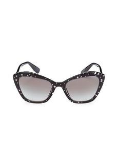 Miu Miu 55MM Squared Cat Eye Sunglasses