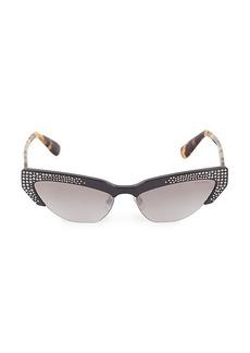 Miu Miu 59MM Cat Eye Rhinestone Sunglasses