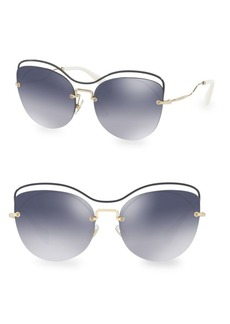 Miu Miu 60MM Cat Eye Sunglasses