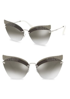 Miu Miu 63MM Mirrored Sunglasses