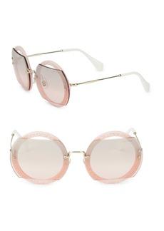 Miu Miu 63MM Round Sunglasses