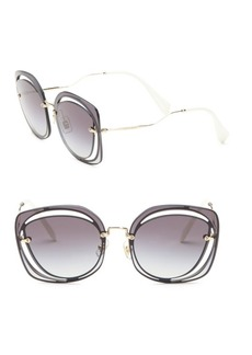 Miu Miu 64MM Mirrored Round Sunglasses