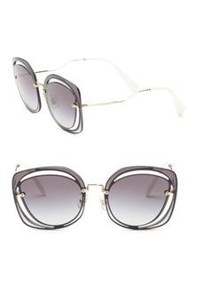 Miu Miu 64MM Mirrored Round Sunglasses