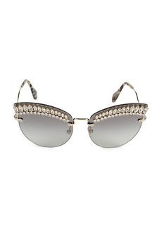 Miu Miu 65MM Cat Eye Sunglasses