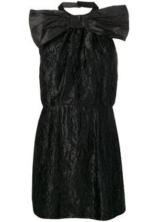 Miu Miu backless wrinkled mini dress