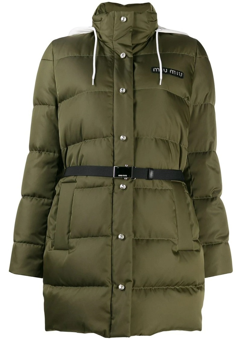 Miu Miu belted puffer jacket