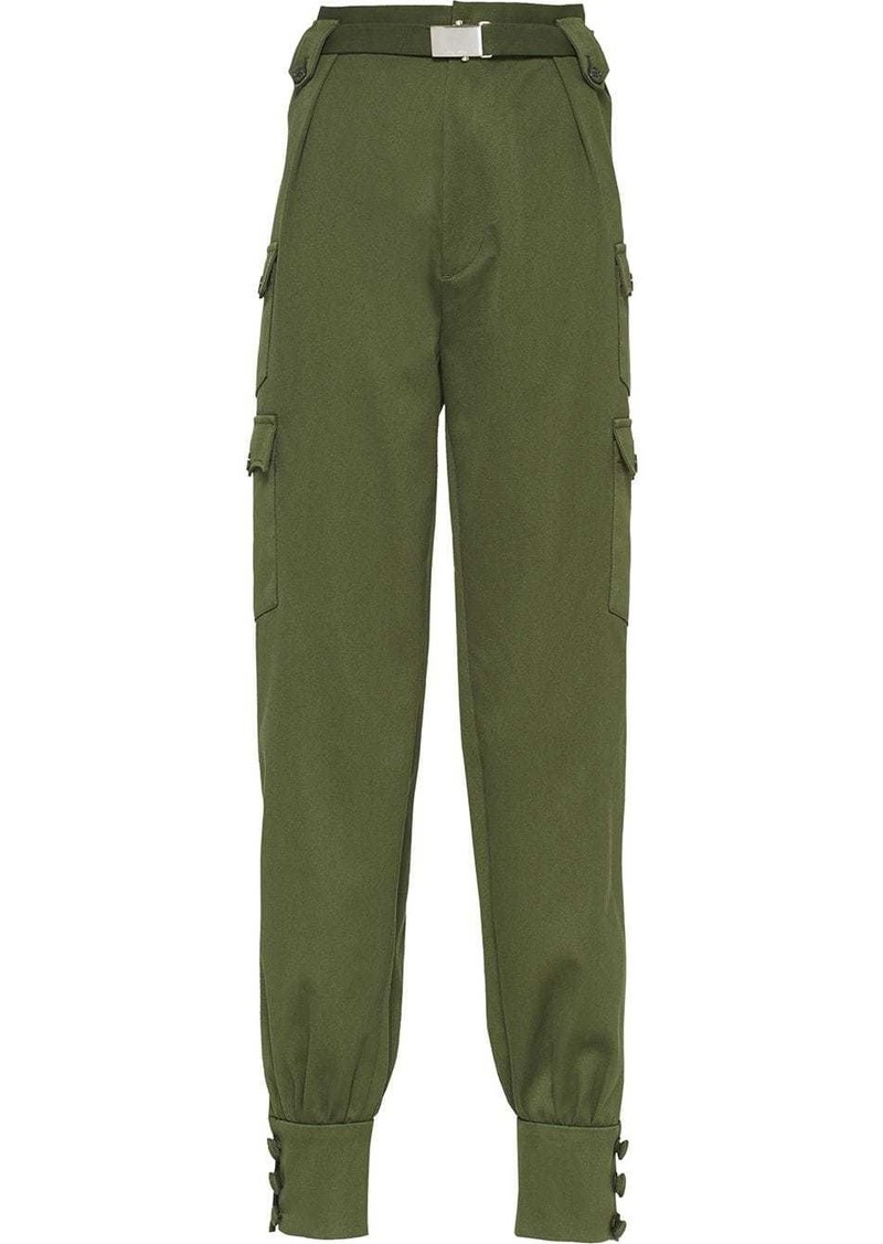 Miu Miu belted tapered trousers