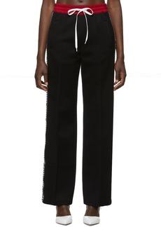 Miu Miu Black Logo Lounge Pants