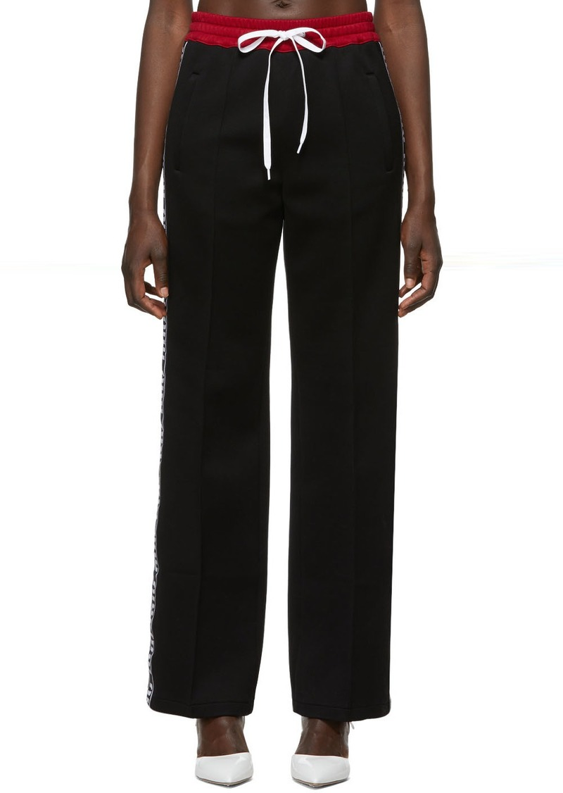 Miu Miu Black Logo Lounge Pants