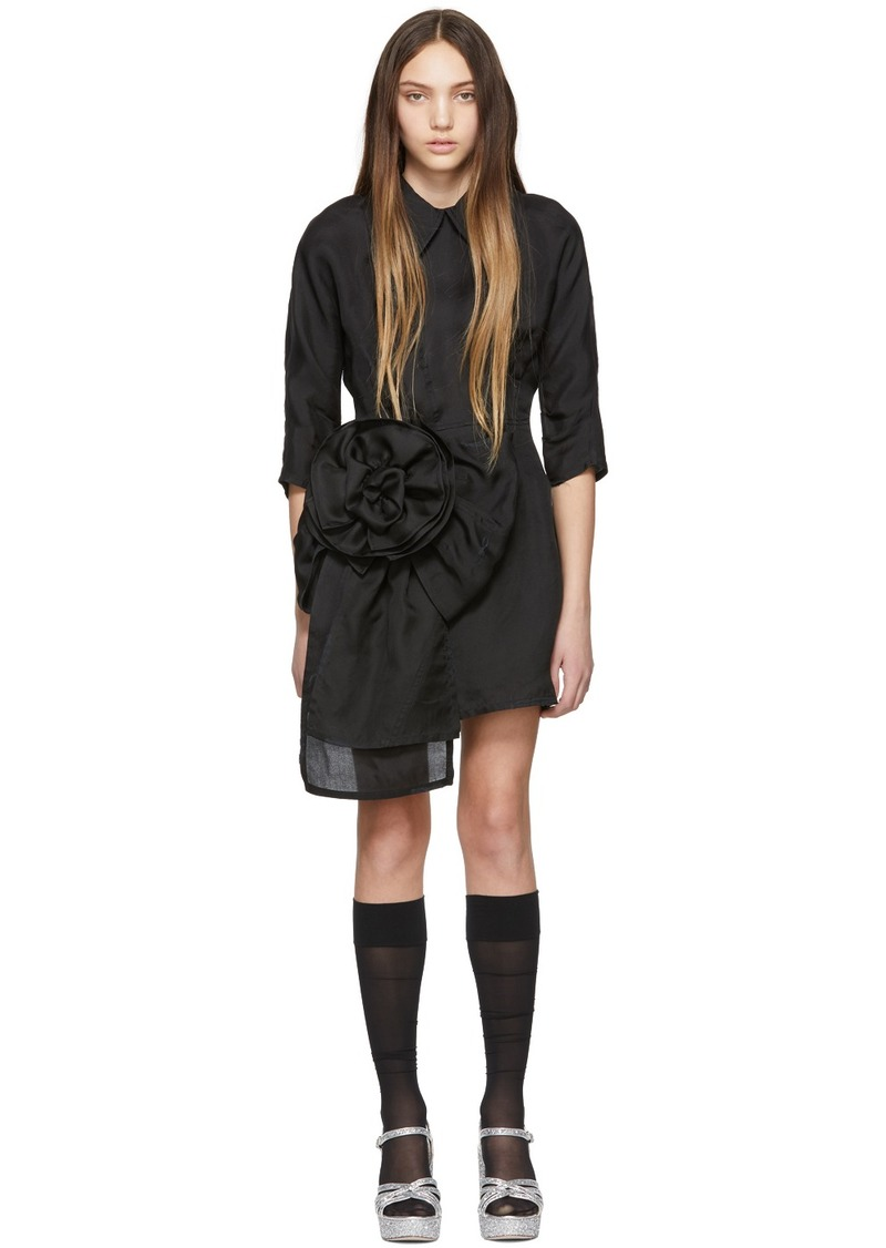 Miu Miu Black Pointy Collar Dress