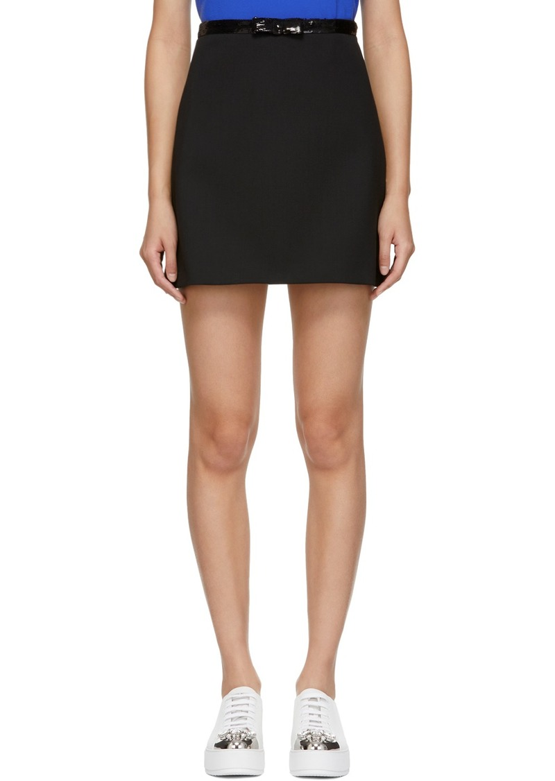 Miu Miu Black Sequin Miniskirt