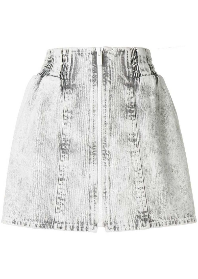 Miu Miu bleached denim mini skirt