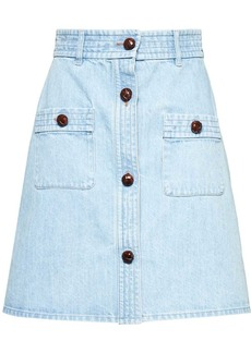 Miu Miu bleached denim skirt