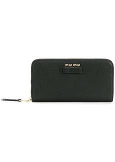 Miu Miu bow detail continental wallet