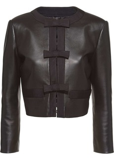 Miu Miu bow-detail leather jacket