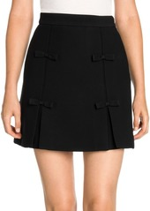 Miu Miu Bow Detail Mini Skirt