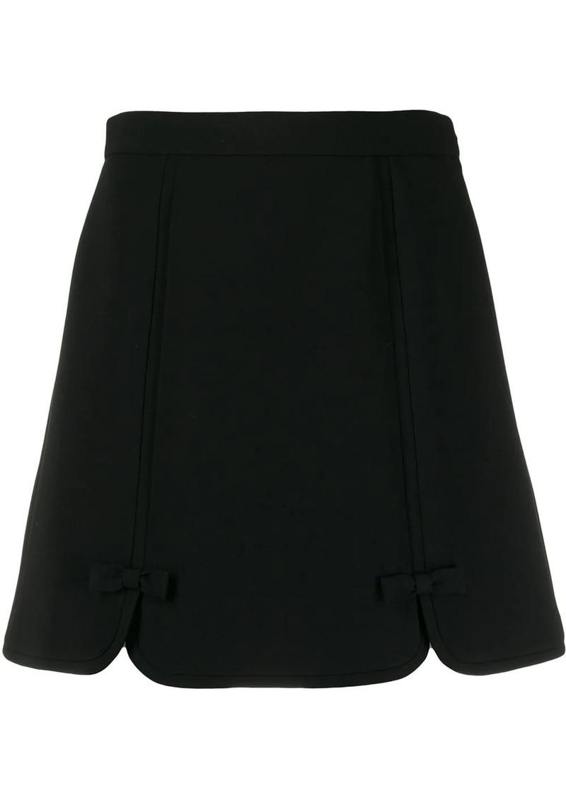 Miu Miu bow detail mini skirt