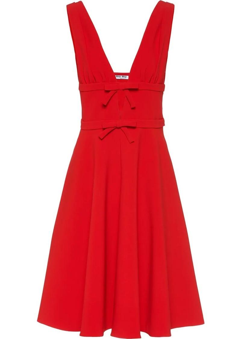 Miu Miu bow detail sleeveless dress