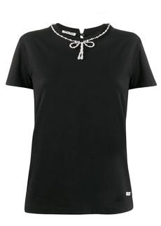 Miu Miu bow detail T-shirt