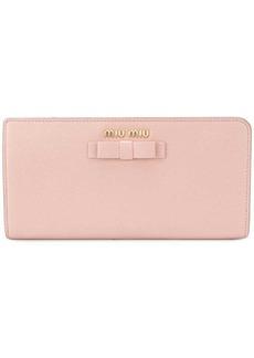 Miu Miu bow detail wallet