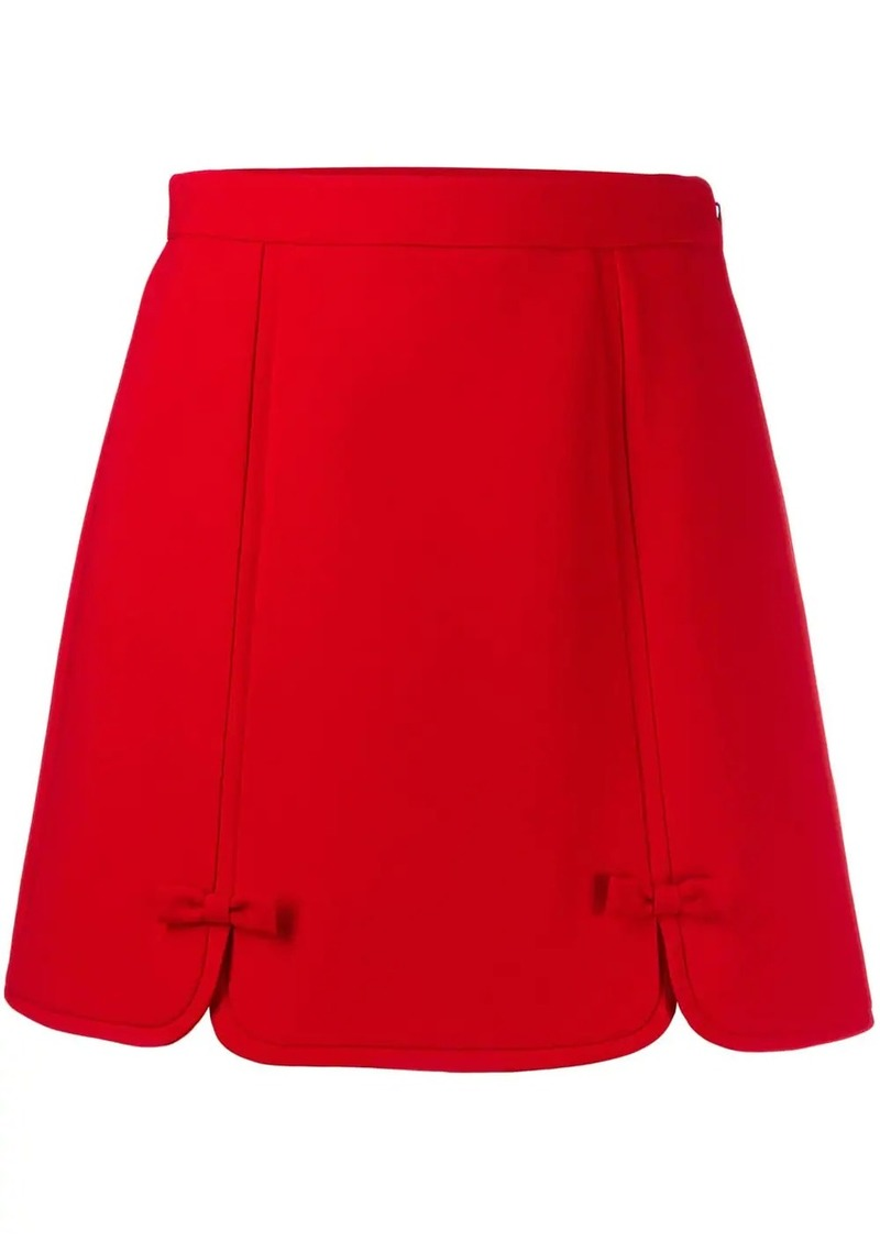 Miu Miu bow-detailed mini skirt